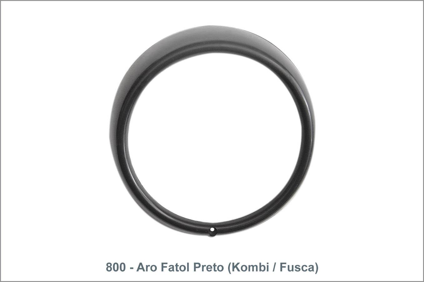 800 - Aro Farol Preto (Kombi / Fusca)