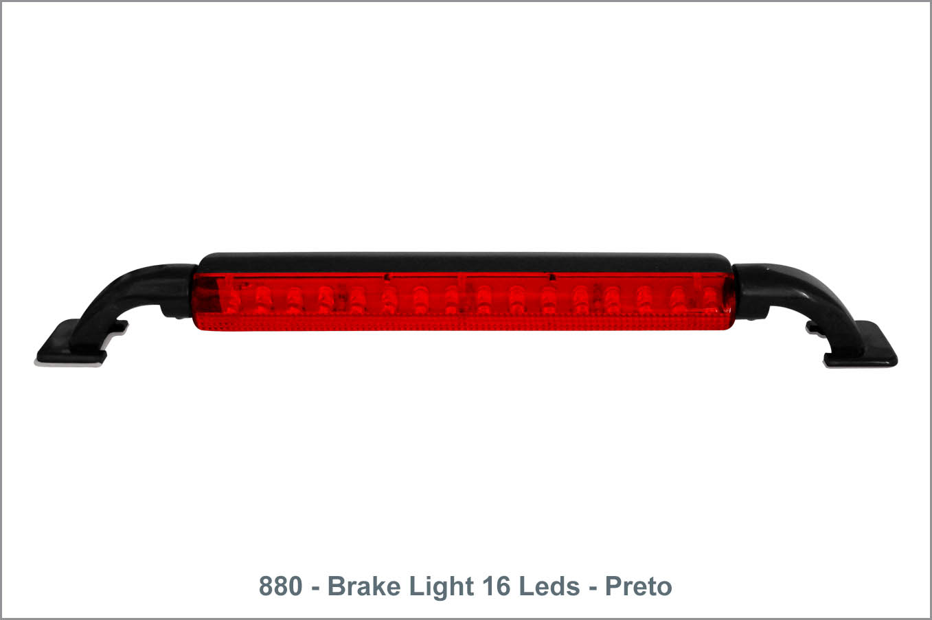 880 - Break Ligh 16 Leds - Preto