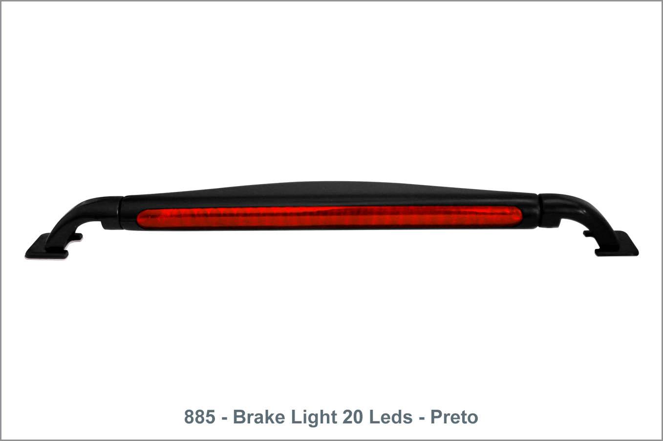 885 - Brake Light 20 Leds - Preto