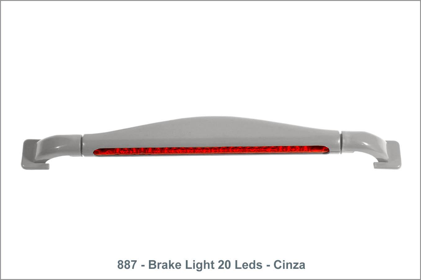 887 - Brake Light 20 Leds - Cinza