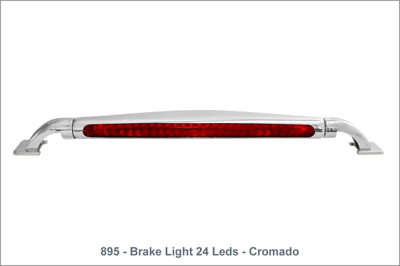 895 - Brake Light 24 Leds - Cromado